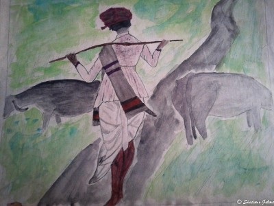 The only painting ever done by me ..