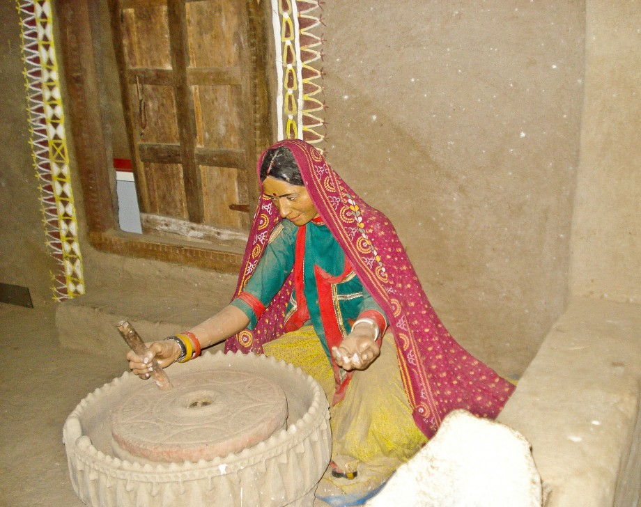 Village woman at the museum