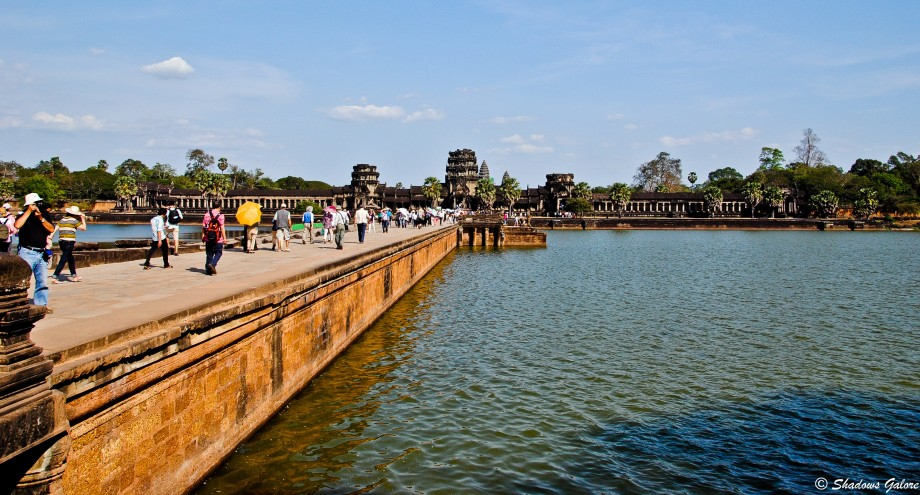 The Moat and the bridge leading to Angkor Wat