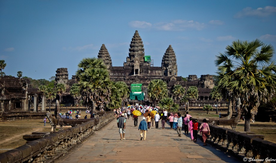 Angkor Wat as seen from the Entrance