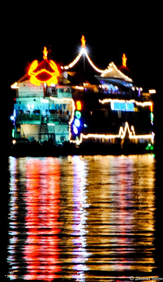 Houseboat in the sea at Pattaya