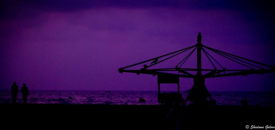 Chennai-scape: Silhouettes at Marina Beach 1