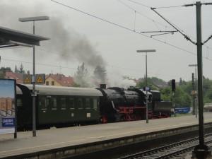 When the train chugged onto the platform