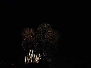 Fireworks on the occasion of the national day in France