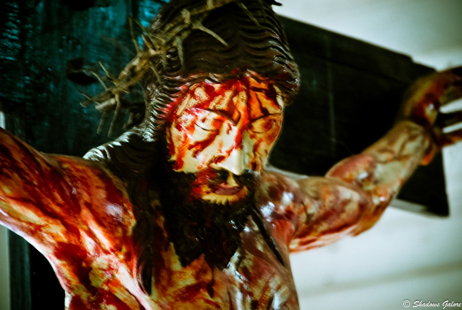 A crucified Jesus