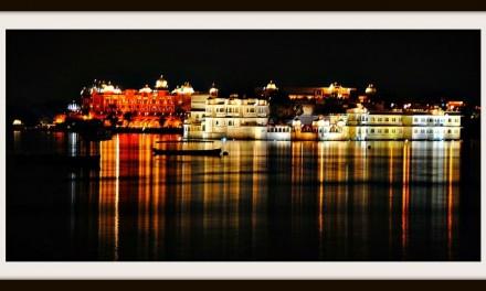 Jag Mandir Palace at Lake Pichola, Udaipur at Night